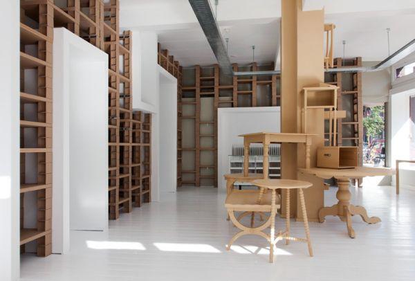 Чудная мебель из картона от BYTR Architects в магазине