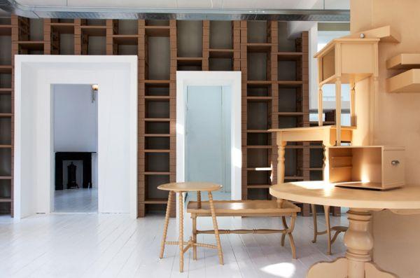 Прекрасная мебель из картона от BYTR Architects в магазине