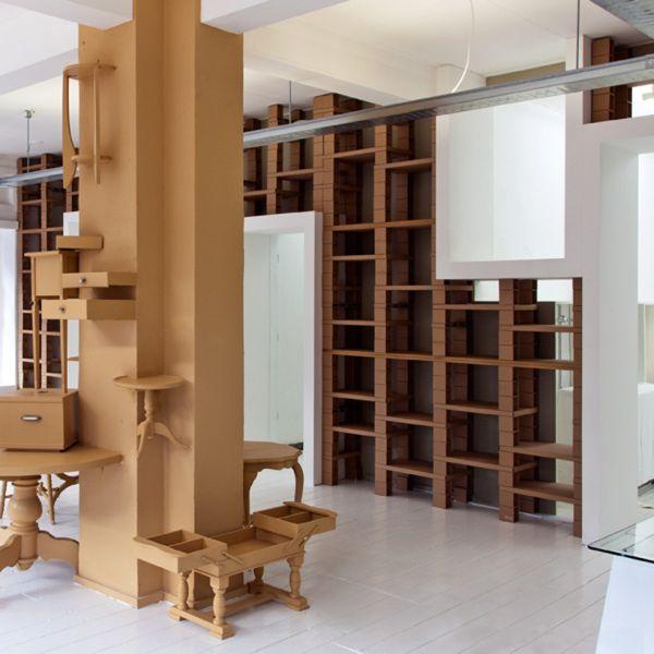 Восхитительная мебель из картона от BYTR Architects в магазине