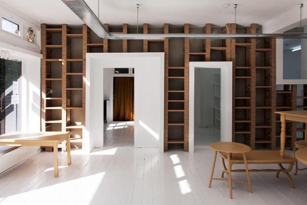 Яркая мебель из картона от BYTR Architects в магазине