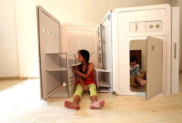 Уникальный детский игровой домик из картона