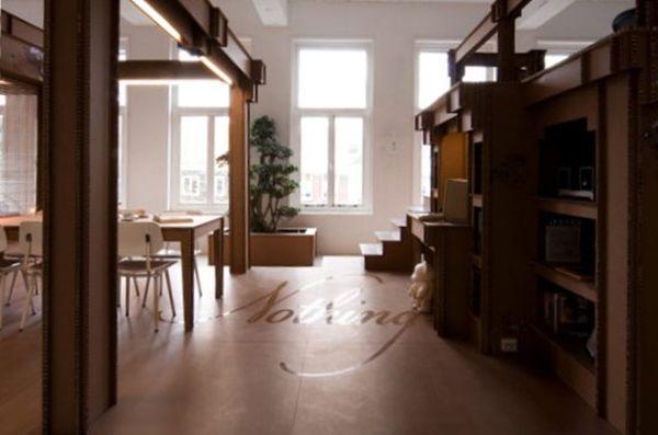 Чудесная мебель из картона в интерьере офиса