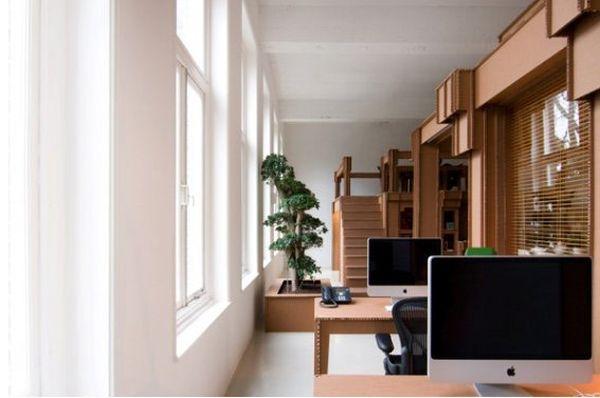 Восхитительная мебель из картона в интерьере офиса