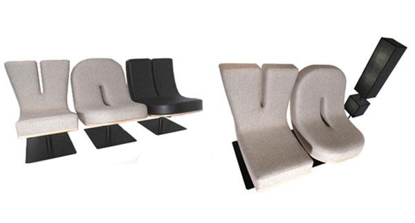 Креативные стулья в виде надписи ТЫ