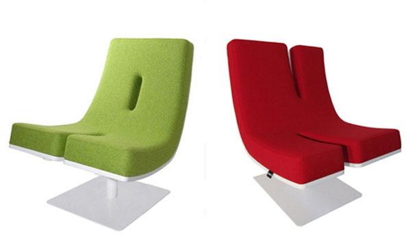 Креативные стулья в виде надписи АН