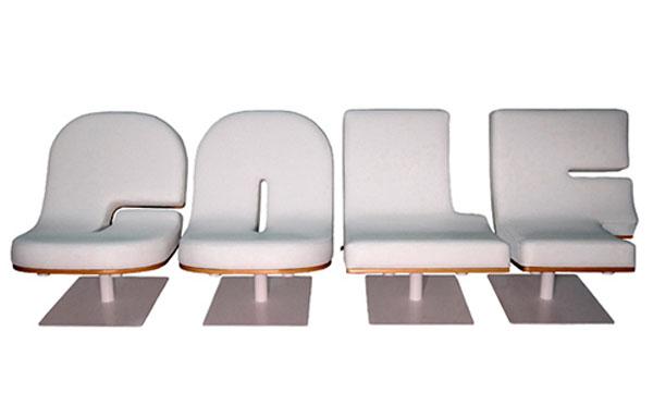 Креативные стулья с надпись Классный