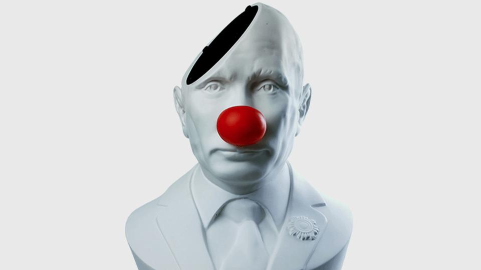 Небольшой бюст Путина — очень креативный предмет интерьера