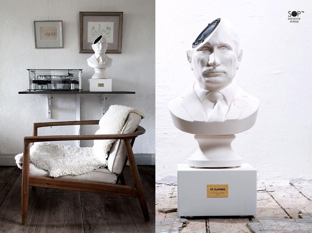 Бюст Путина — креативный предмет интерьера. Различные ракурсы