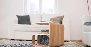 Креативный деревянный журнальный столик для гостиной