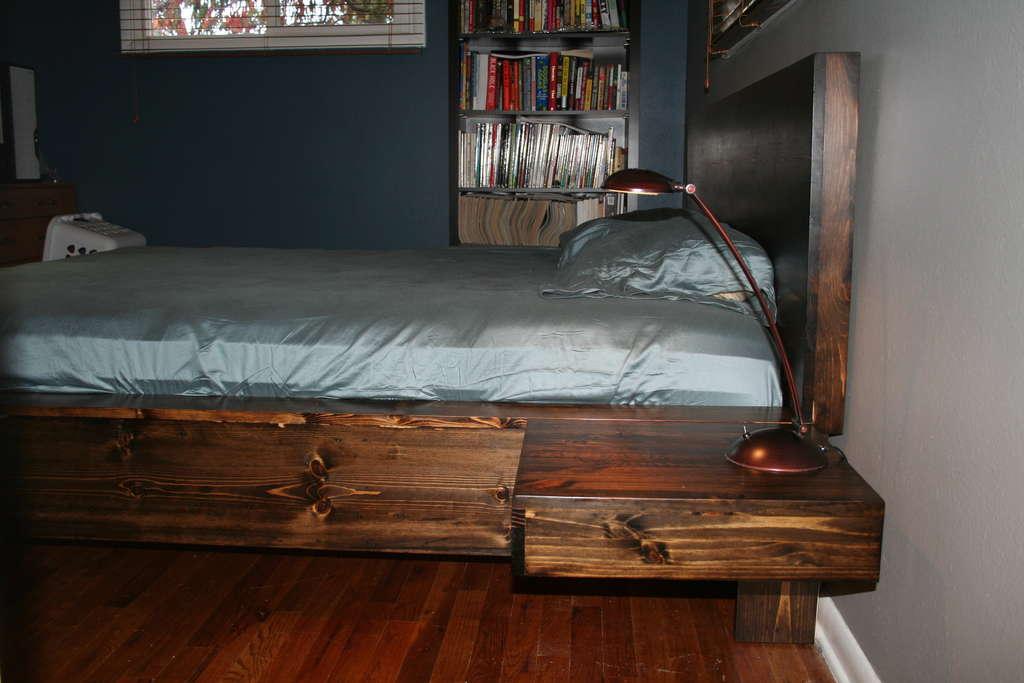 Кровать двуспальная своими руками из дерева