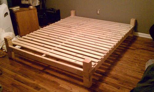 Фото кровать своими руками из дерева