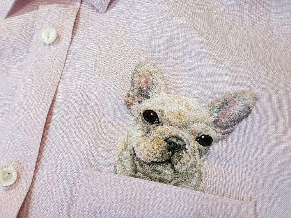 Очаровательные вышивки на рубашках от Хироко Кубота