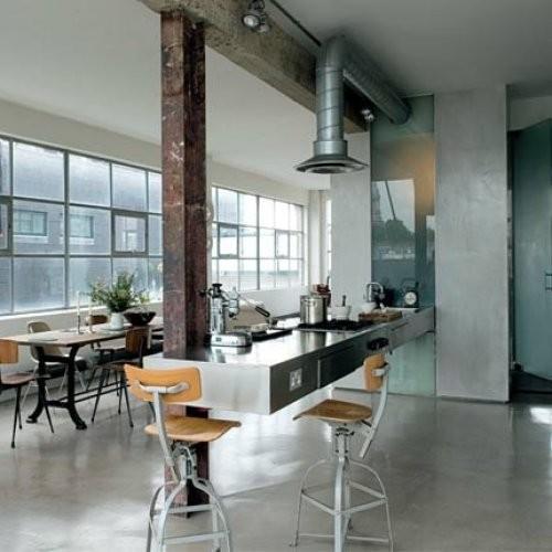 Интерьер кухни в индустриальном стиле
