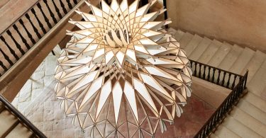 Деревянные купольные светильники