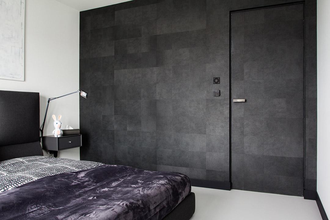 Уникальный дизайн интерьера квартиры в черно-белом цвете