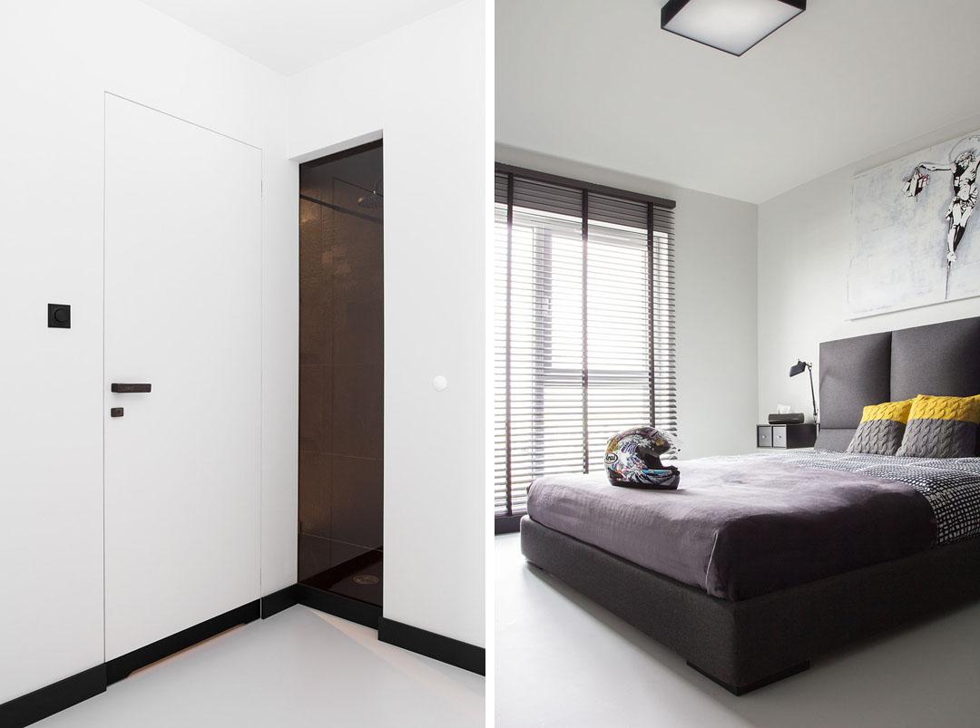 Чудесный дизайн интерьера квартиры в черно-белом цвете