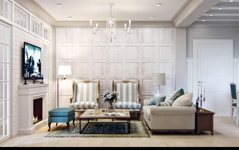 Квартиры в стиле прованс: светлый интерьер гостиной