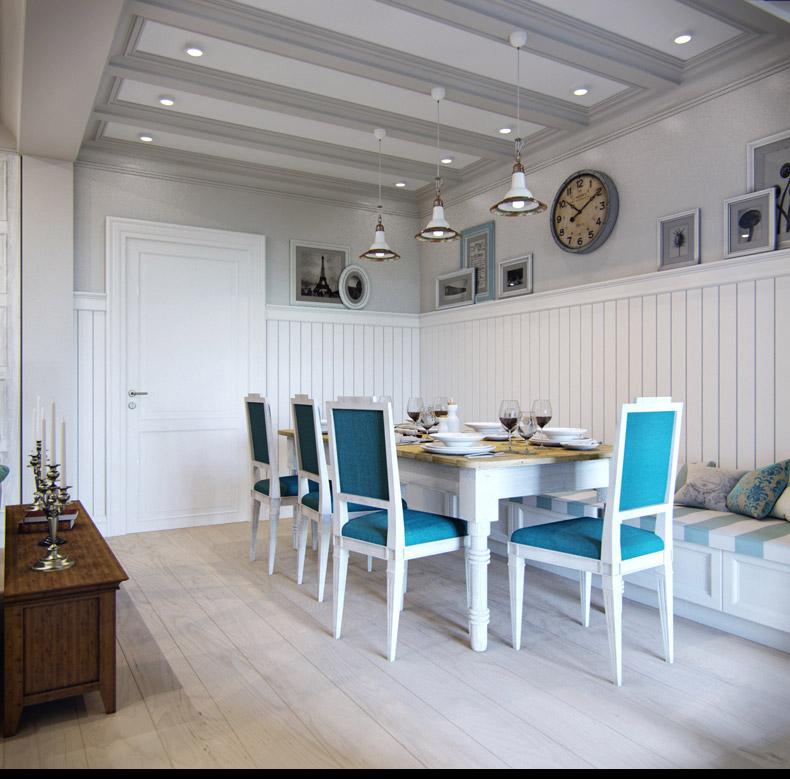 Квартиры в стиле прованс: необычный потолок