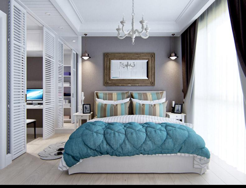 Квартиры в стиле прованс: раздвижные перегородки в спальне