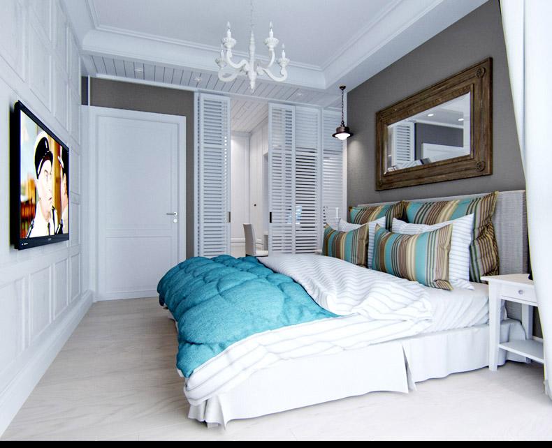 Квартиры в стиле прованс: светлый пол в спальне