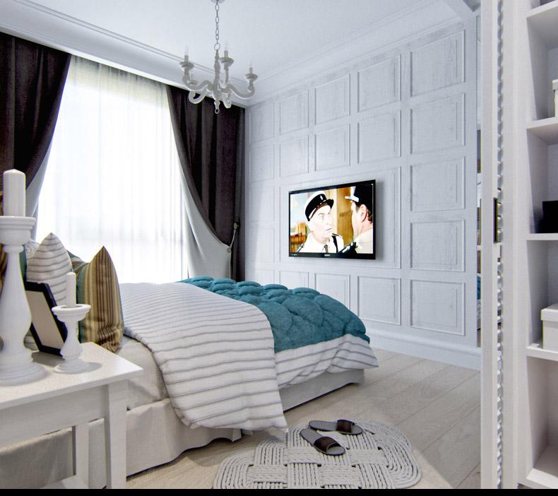 Квартиры в стиле прованс: винтажный светильник в спальне
