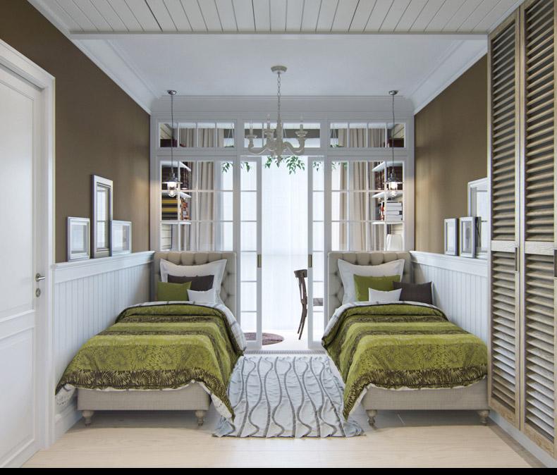 Квартиры в стиле прованс: стеклянные раздвижные двери
