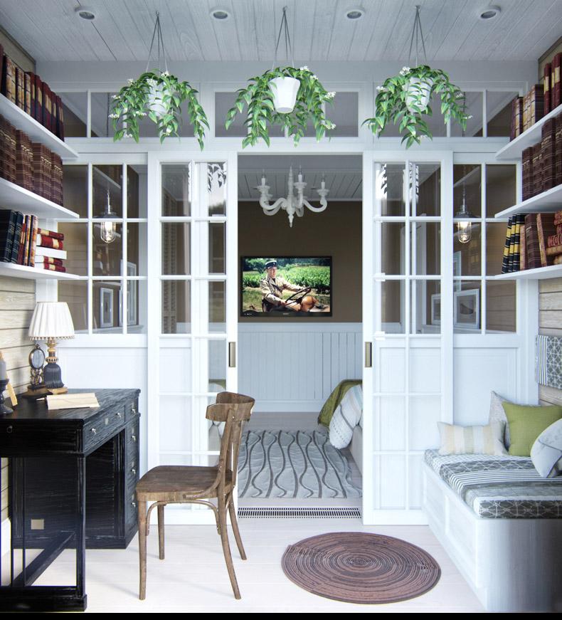 Квартиры в стиле прованс: уютный рабочий кабинет