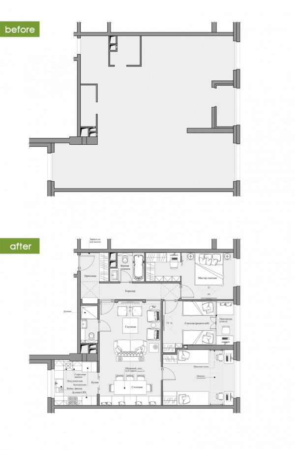 Квартиры в стиле прованс: план квартиры