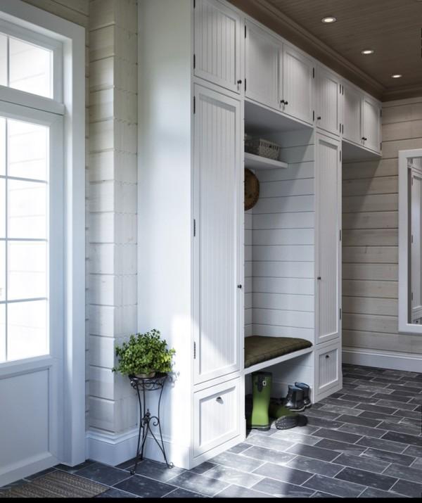 Квартиры в стиле прованс: белый винтажный шкаф