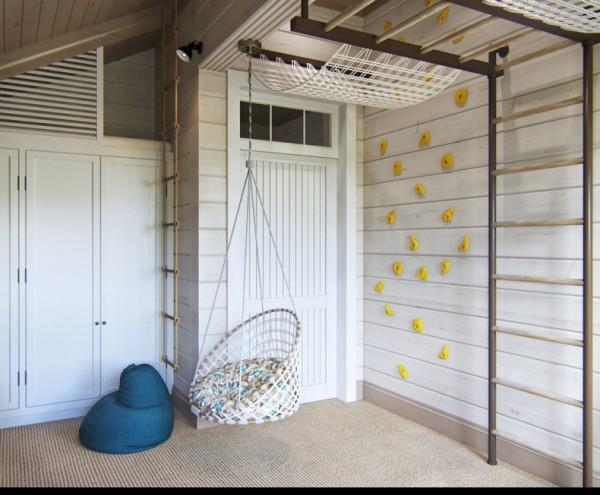 Квартиры в стиле прованс: подвесные качели в детской