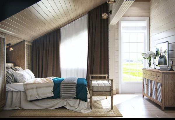 Квартиры в стиле прованс: покатый потолок в интерьере детской