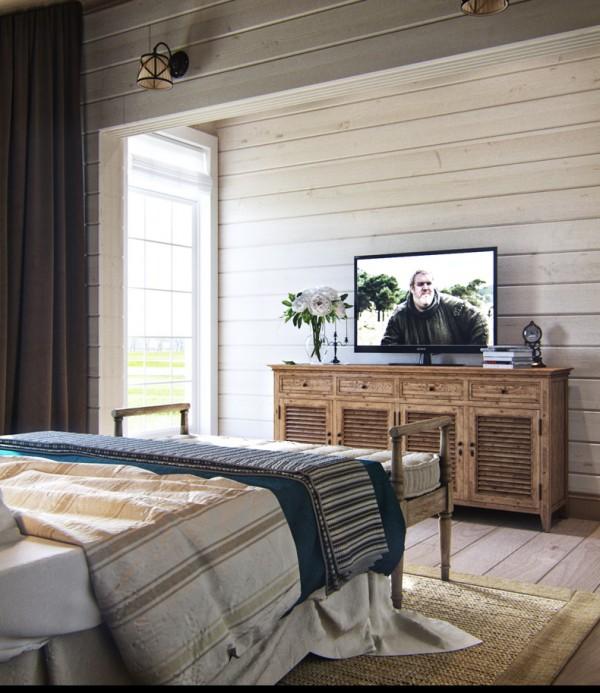 Квартиры в стиле прованс: винтажные комод в спальне