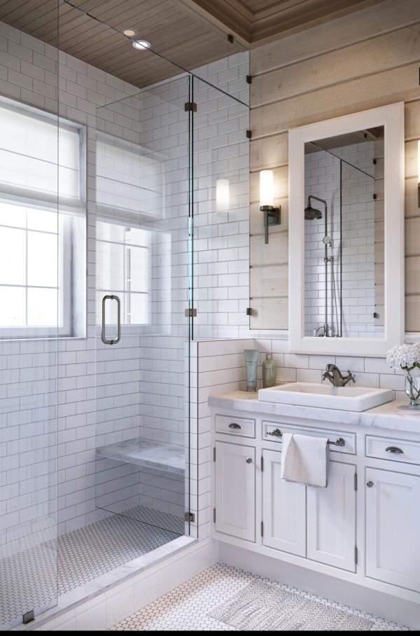 Квартиры в стиле прованс: белый интерьер ванной комнаты