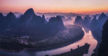 Пейзажные фото от Кион Джей: необычные виды реки Лицзян в районе города Гуйлинь