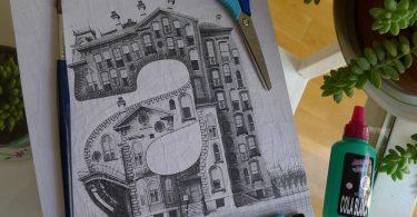 Буквы-дома: реалистично-фантастические архитектурные коллажи от Лолы Дюпре