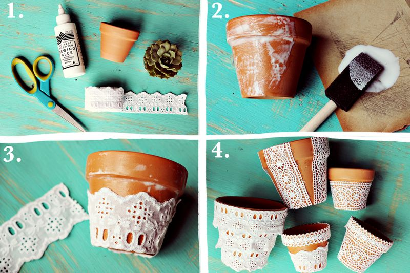 Декорирование цветочных горшков: пошаговое руководство