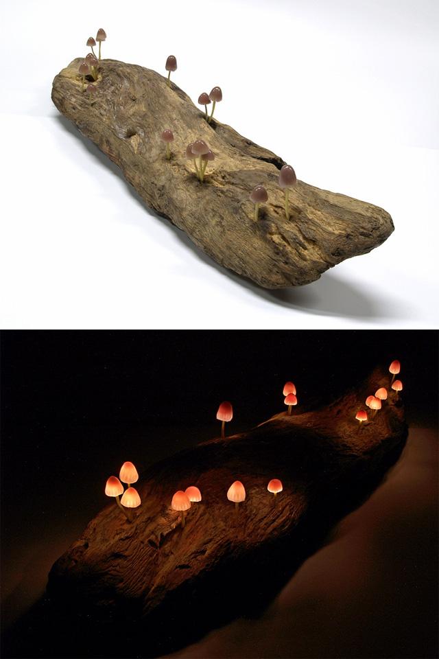 Изумительные светильники в форме гриба от Yukio Takano