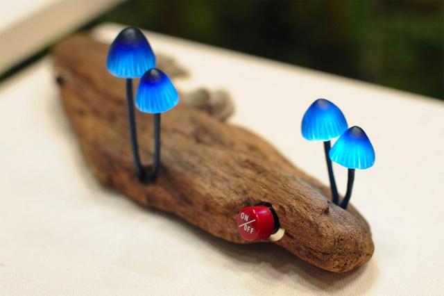 Чудесные светильники в форме гриба от Yukio Takano