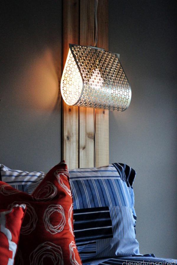 Светильник из перфорированного металлического листа