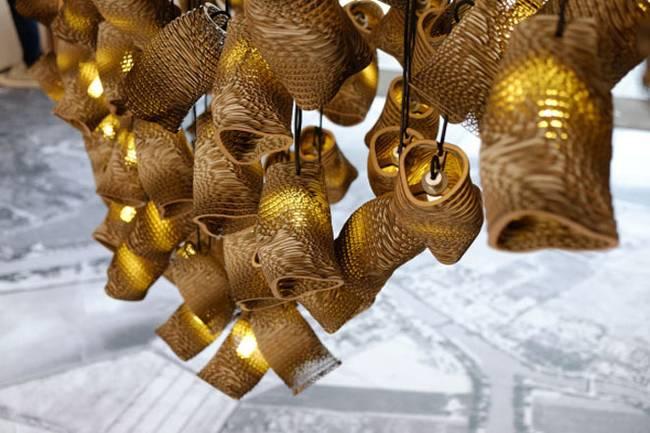 Дизайн ламп из картона - Фото 2