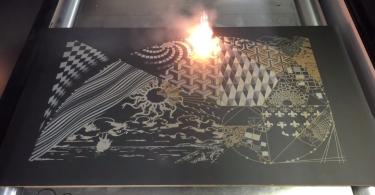 Система Laser Art: выжиганиt рисунков на поверхности доски