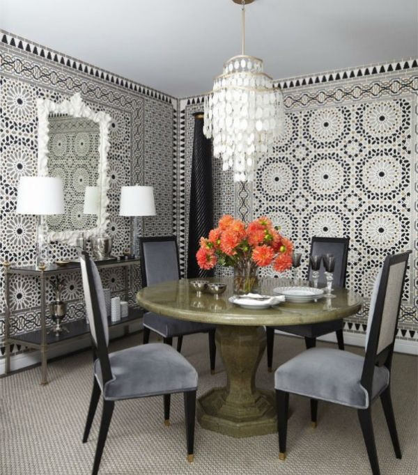 Дизайн интерьера уютной столовой