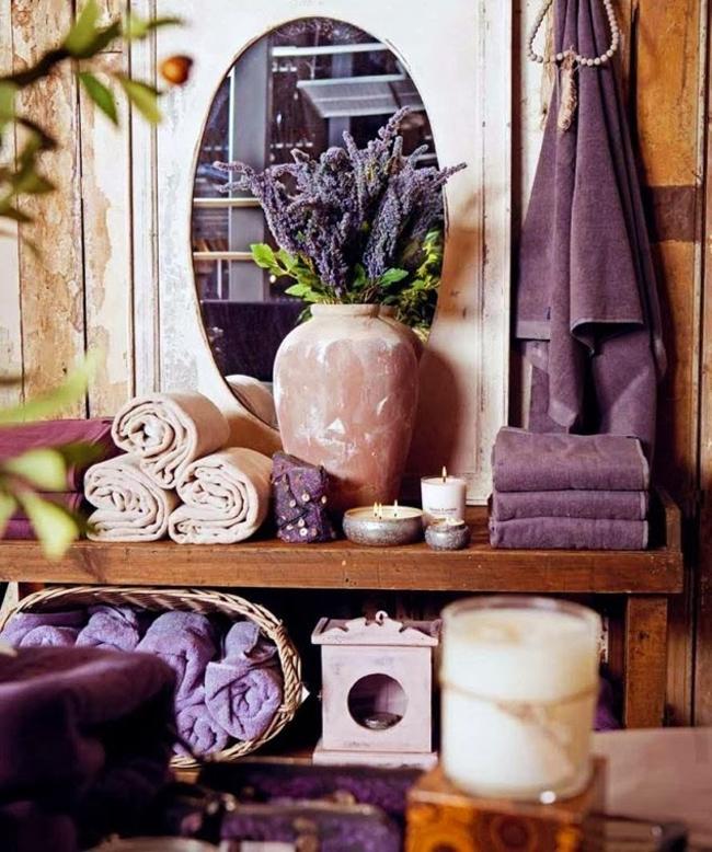 Lavender bathroom decor