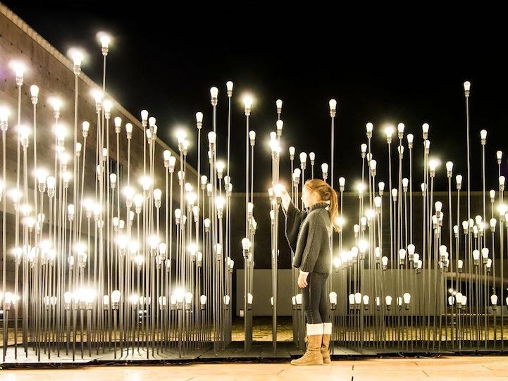 Умопомрачительная световая композиция в центре столицы Португалии