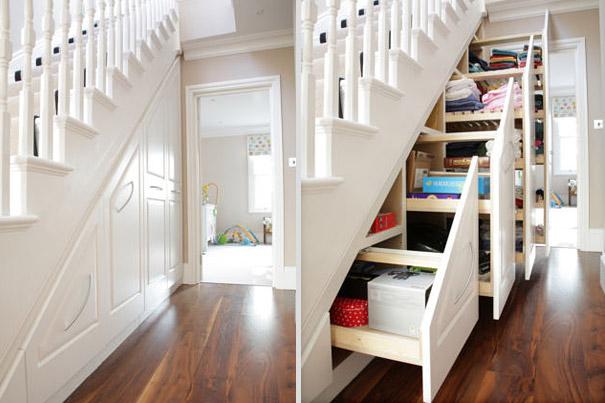 Выдвижные ящики из шкафа под лестницей