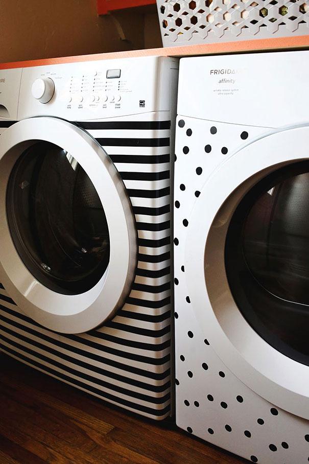 Украшения поверхности стиральных машиной