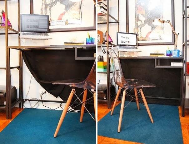 Дизайнерский стул с прозрачным сидением