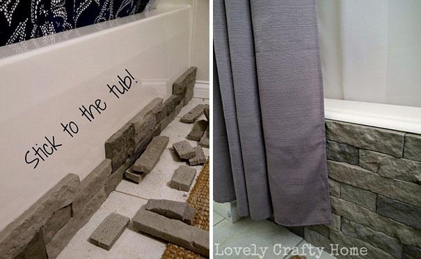 Декорирования ванной камнем