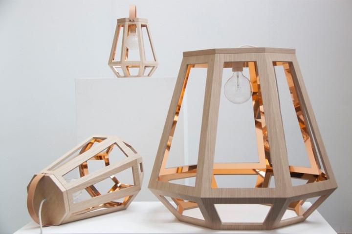 Красивый деревянный светильник из коллекции ZUID от Françoise Oostwegel
