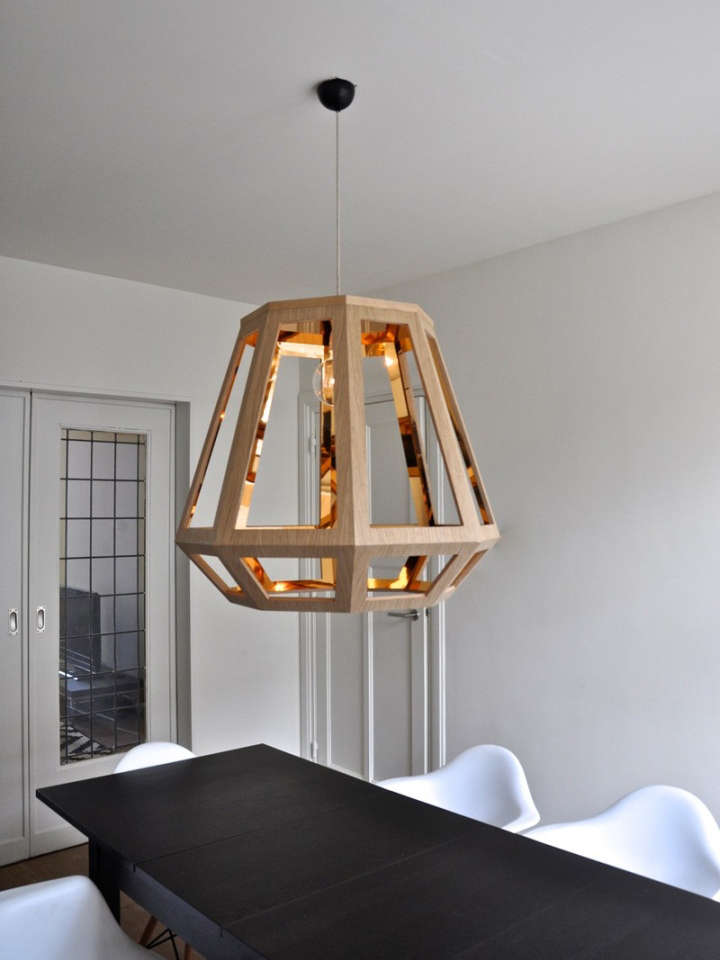 Шикарный деревянный светильник из коллекции ZUID от Françoise Oostwegel